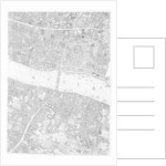 A Map of Old London Bridge, London by John Rocque
