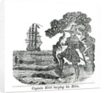 Captain Kidd Burying His Bible by English School