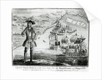 Captain Bartholomew Roberts with two ships, the 'Royal Fortune' and 'Ranger' takes sail in Whydah Road on the coast of Guiney by English School