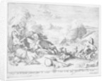 King James's troops are defeated at the Battle of the Boyne and flee by Adriaan Schoonebeek