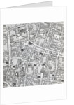 Street map of London around Guildhall by Richard Horwood