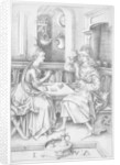Couple playing cards by Israhel van