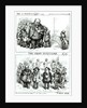 Cartoons featuring William Marcy 'Boss' Tweed, James Ingersoll and George Miller by Thomas Nast