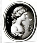 Portrait of Sappho by Thomas Worlidge