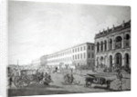 The Mayor's Court and Writers' Building, Calcutta by Thomas Daniell