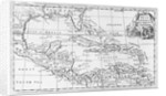 Map of the West Indies, Florida and South America by English School