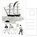 English Steamship at Canton by French School