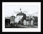 The Globe Theatre on the Bankside as it appeared in the reign of James I by English School
