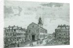 South West View of The Old State House, Boston by American School