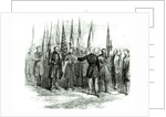 General Custer presenting captured Confederate flags in Washington on October 23rd 1864 by Alfred R. Waud