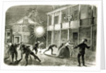 The Federals shelling the City of Charleston: Shell bursting in the streets in 1863 by Frank Vizetelly