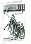 Frontispiece of 'Pedantius', comedy by Edward Forsett produced in Cambridge in 1581 by English School