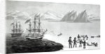 First communication with the natives of Prince Regents Bay by English School