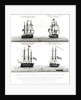 Portraits of the vessels on the Polar Expedition by English School