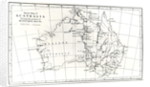Sketch map of Australia showing the position of Mr. Stuart's Route by English School