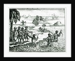 The Hottentot Manner of Fishing by English School