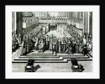 The Enthroning of King James II and Queen Mary by English School