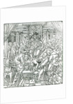 The Pope suppressed by King Henry VIII by English School