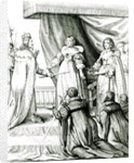 Charles I being given the sceptre and crown by French School
