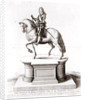The statue of King Charles the 1st at Charing Cross by Wenceslaus Hollar