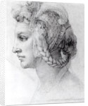 Ideal Head of a Woman by Michelangelo Buonarroti