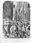 The Water supply in Fryingpan Alley, Clerkenwell by English School