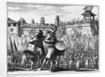 Battle scene by English School