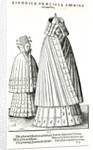 Costumes of a Livonian noblewoman and her daughter by Hans Weigel