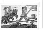 Hunting Scene by English School