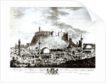 A view of the city and castle of Aleppo, Syria by Alexander Drummond