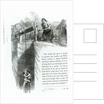 A boy and girl being wound up a mine shaft by English School