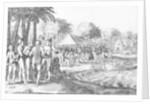 Dutch traders entertain local Polynesians by Dutch School