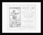 Frontispiece to The Art of Archerie by English School