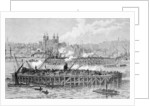 Progress of the Works of the Tower Bridge over the Thames by English School