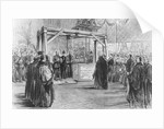The Prince of Wales laying the foundation-stone of Tower Bridge on Monday by English School