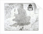 A New Map of the Kingdom of England and the Principalitie of Wales by William Berry