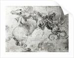 Battle between a Rider and a Dragon by Leonardo da Vinci