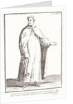 A Templar in his habit: white with a plain red cross on his shoulder by French School