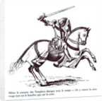 Illustration of a Knight Templar by French School