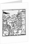 Crusading knights ride out to do Battle by English School