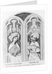 Queen Eleanor and Henry III, taken from an ancient window in the Church of Boxhill, Sussex by English School