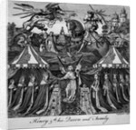 Henry 5th, his Queen and Family by English School