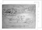 Scythed Chariot by Leonardo da Vinci