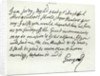 Letter from George II to the Duke of Newcastle, 1759 by English School