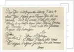 Letter from George III to his grandfather the King, 23rd June 1749 by English School