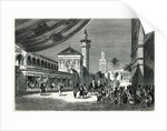 A Bazaar at Tunis by Emile Theodore Therond