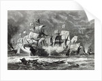 The Vanguard, under Sir William Winter, engaging the Spanish Armada by Oswald Walters Brierly