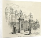 Front view of Buckingham Palace by English School