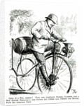 Cartoon making fun of the early days of Bicycles by English School