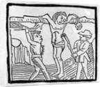 Whipping a Vagabond during the Tudor period by English School